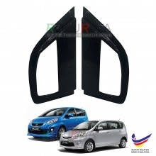 Perodua Alza 2009 Aerodynamic Front Triangle Side Window Mirror Cover (J's JS Racing Design)