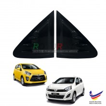 Perodua Axia 2014 Aerodynamic Front Triangle Side Window Mirror Cover (J's JS Racing Design)