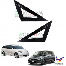 Toyota Previa Estima XR50 (3rd Gen) 2006 Aerodynamic Front Triangle Side Window Mirror Cover (J's JS Racing Design)
